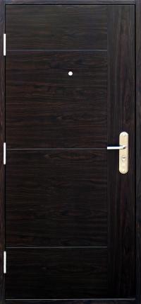 b4f13300d3 ... Bezpečnostné dvere SOFIA  »  MODERN  »  »  ». MODERN Dub tmavý - pohľad  z vonka. MODERN Dub tmavý - pohľad z vnútra