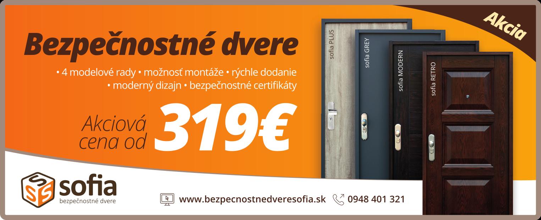 401608c307 Aktuálna akciová ponuka - Bezpečnostné dvere Sofia