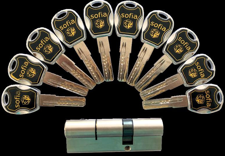 Cylindrická vložka - 10 kľúčov
